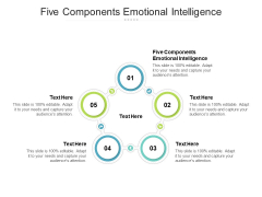 Five Components Emotional Intelligence Ppt PowerPoint Presentation Portfolio Tips Cpb