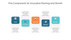 Five Components For Innovative Planning And Growth Ppt PowerPoint Presentation File Design Inspiration PDF