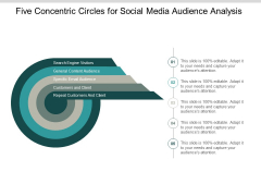Five Concentric Circles For Social Media Audience Analysis Ppt PowerPoint Presentation Infographics File Formats