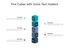 Five Cubes With Icons Text Holders Ppt PowerPoint Presentation Inspiration Gallery