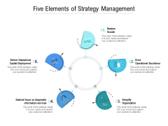 Five Elements Of Strategy Management Ppt PowerPoint Presentation Model Graphic Tips