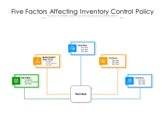 Five Factors Affecting Inventory Control Policy Ppt PowerPoint Presentation Gallery Layout PDF