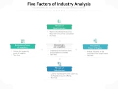 Five Factors Of Industry Analysis Ppt PowerPoint Presentation Professional Examples PDF