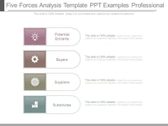 Five Forces Analysis Template Ppt Examples Professional