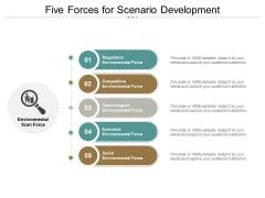 Five Forces For Scenario Development Ppt PowerPoint Presentation Infographics Graphics Design