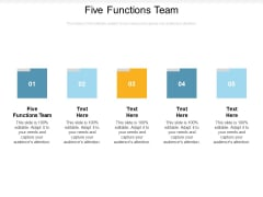 Five Functions Team Ppt PowerPoint Presentation Pictures Topics Cpb