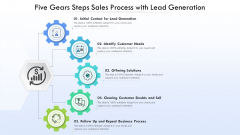 Five Gears Steps Sales Process With Lead Generation Ppt PowerPoint Presentation Gallery Model PDF