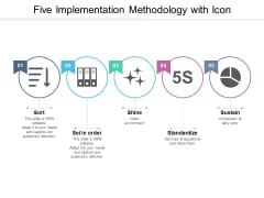 Five Implementation Methodology With Icon Ppt Powerpoint Presentation Model Introduction