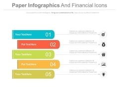 Five Infographic Tags For Market Share Information Powerpoint Template