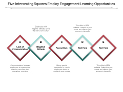 Five Intersecting Squares Employ Engagement Learning Opportunities Ppt PowerPoint Presentation Layouts Example Topics