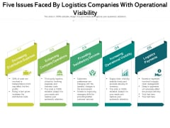 Five Issues Faced By Logistics Companies With Operational Visibility Ppt PowerPoint Presentation File Designs PDF