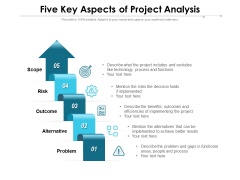 Five Key Aspects Of Project Analysis Ppt PowerPoint Presentation Model Portrait