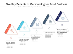 Five Key Benefits Of Outsourcing For Small Business Ppt PowerPoint Presentation Guidelines PDF