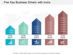 Five Key Business Drivers With Icons Ppt Powerpoint Presentation Slides Objects