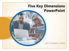 Five Key Dimensions PowerPoint Formation Gears Bulb Icon Clock Icon Ppt PowerPoint Presentation Complete Deck