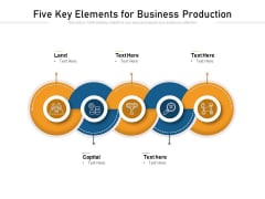 Five Key Elements For Business Production Ppt PowerPoint Presentation File Visuals PDF