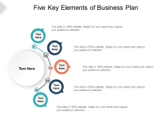 Five Key Elements Of Business Plan Ppt PowerPoint Presentation Pictures Influencers