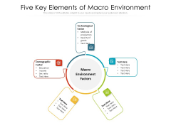 Five Key Elements Of Macro Environment Ppt PowerPoint Presentation File Styles PDF