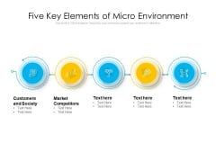 Five Key Elements Of Micro Environment Ppt PowerPoint Presentation Gallery Objects PDF