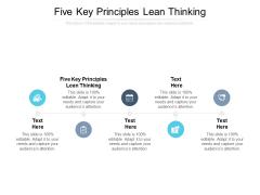 Five Key Principles Lean Thinking Ppt PowerPoint Presentation Model Visuals Cpb Pdf