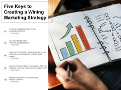 Five Keys To Creating A Wining Marketing Strategy Ppt PowerPoint Presentation Show Format Ideas