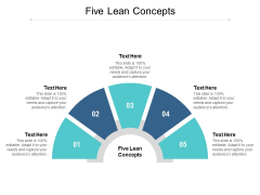 Five Lean Concepts Ppt PowerPoint Presentation Professional Microsoft Cpb