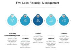 Five Lean Financial Management Ppt PowerPoint Presentation Portfolio Outline Cpb