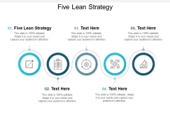 Five Lean Strategy Ppt PowerPoint Presentation Model Background Cpb