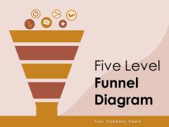 Five Level Funnel Diagram Interest Evaluation Sales Ppt PowerPoint Presentation Complete Deck