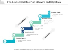 Five Levels Escalation Plan With Aims And Objectives Ppt PowerPoint Presentation Outline Picture