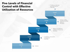Five Levels Of Financial Control With Effective Utilization Of Resources Ppt PowerPoint Presentation Outline Outfit PDF