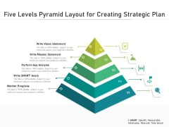 Five Levels Pyramid Layout For Creating Strategic Plan Ppt PowerPoint Presentation File Background Image PDF