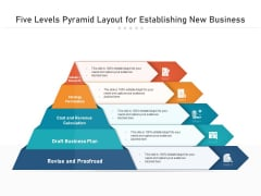 Five Levels Pyramid Layout For Establishing New Business Ppt PowerPoint Presentation File Example Topics PDF