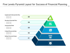 Five Levels Pyramid Layout For Success Of Financial Planning Ppt PowerPoint Presentation Gallery Topics PDF