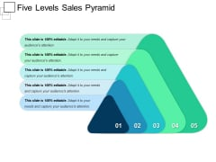 Five Levels Sales Pyramid Ppt PowerPoint Presentation Slides Ideas