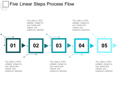 Five Linear Steps Process Flow Ppt PowerPoint Presentation Portfolio Layout Ideas