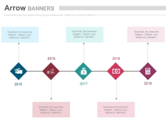 Five Linear Steps With Financial Icons Powerpoint Slides
