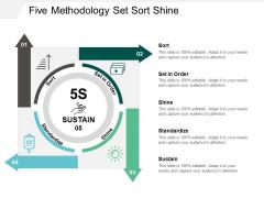 Five Methodology Set Sort Shine Ppt PowerPoint Presentation Slides Example