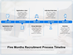 Five Months Recruitment Process Timeline Ppt PowerPoint Presentation Diagram Ppt PDF