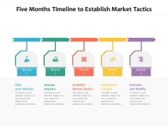 Five Months Timeline To Establish Market Tactics Ppt PowerPoint Presentation File Information PDF