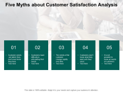 Five Myths About Customer Satisfaction Analysis Ppt PowerPoint Presentation Layouts Graphics Example