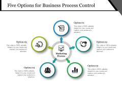 Five Options For Business Process Control Ppt PowerPoint Presentation Show Professional