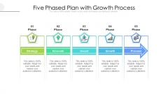 Five Phased Plan With Growth Process Ppt PowerPoint Presentation File Topics PDF