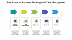Five Phases Of Business Planning With Time Management Ppt PowerPoint Presentation File Show PDF