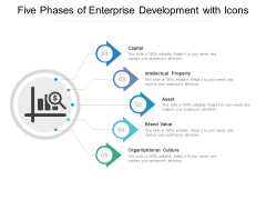 Five Phases Of Enterprise Development With Icons Ppt PowerPoint Presentation Slides Gridlines