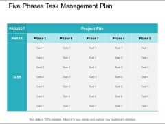 Five Phases Task Management Plan Ppt PowerPoint Presentation Professional Styles
