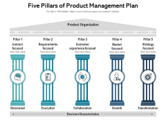Five Pillars Of Product Management Plan Ppt PowerPoint Presentation Gallery Picture PDF