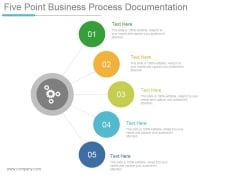 Five Point Business Process Documentation Ppt PowerPoint Presentation Themes