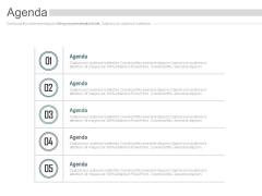 Five Points Business Agenda Diagram Powerpoint Slides