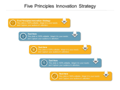 Five Principles Innovation Strategy Ppt PowerPoint Presentation Pictures Clipart Cpb